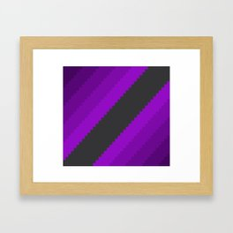 Pixel Grape Juice Dreams - Purple Framed Art Print