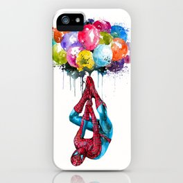 Flying Superhero iPhone Case