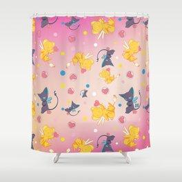 Spinell & Kerochan Pattern Shower Curtain