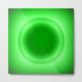 Neon Green Glow Metal Print