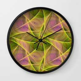 Fractal veils Wall Clock