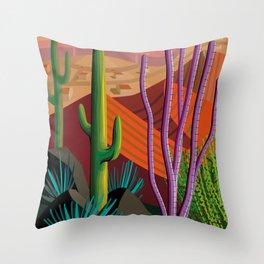 Cactus on Mountaintop Throw Pillow
