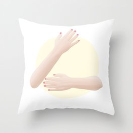 (Hug me) please II Throw Pillow