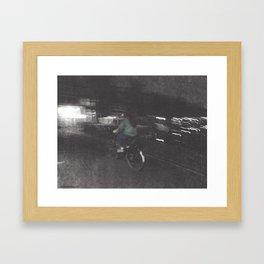 Julia Stole a Bike Framed Art Print