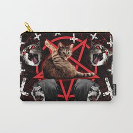 satanic cat pentagram death black metal band exorcist Carry-All Pouch