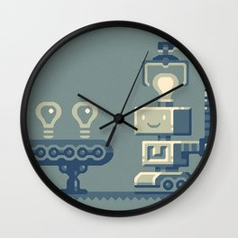 Bright robot Wall Clock