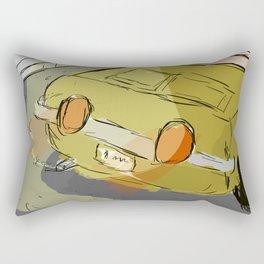 Poorly Drawn Car Rectangular Pillow