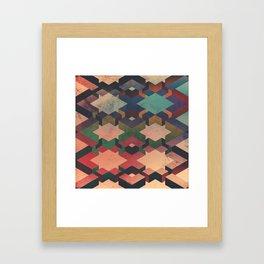 Geo Grunge Framed Art Print