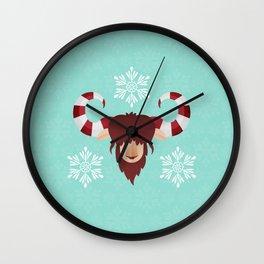 Yuletide Yak Wall Clock