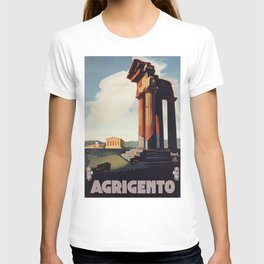 Vintage 1920s Agrigento Italian travel ad T-shirt