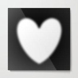 Heart evanescent white Metal Print
