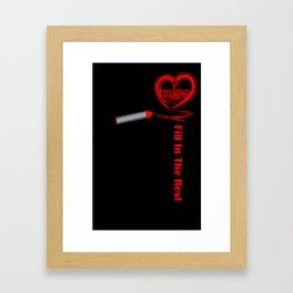 Fill in the Rest Framed Art Print
