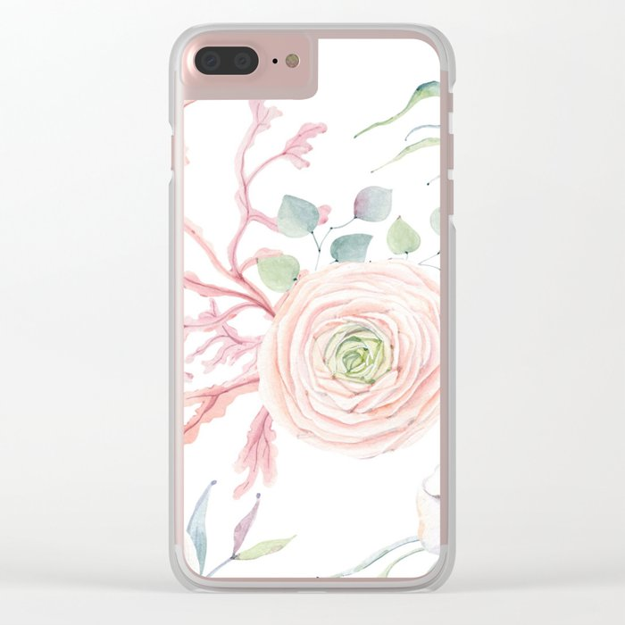 Ocean blossom Clear iPhone Case