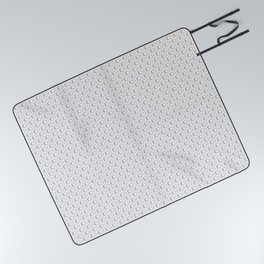 HD Soap Black Tiled on White Picnic Blanket