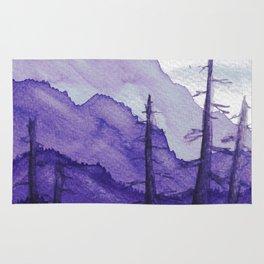 Tonal Mountain Study 2 Purple Rug