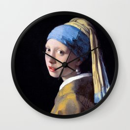 Girl with a Pearl Earring by Johannes Vermeer (c. 1665) Wall Clock