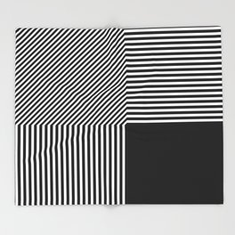Geometric abstraction, black and white Throw Blanket