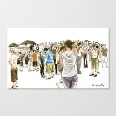 After it rained at McCarren Pool, we stopped and stared. I wish the moment lasted forever. Canvas Print