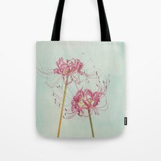 Spider Lily Autumn Botanical Tote Bag