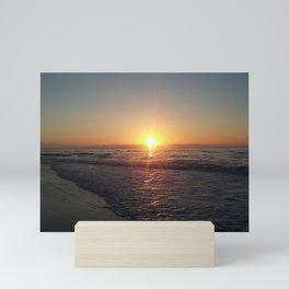 Ocean sunrise at Sea Isle New Jersey by Katy Christoff Mini Art Print