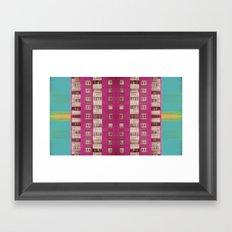 Bloody pink Framed Art Print