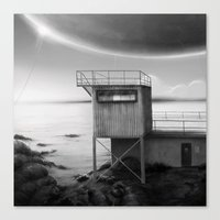 baloon Canvas Prints featuring Baloon land by Jakub Ridky
