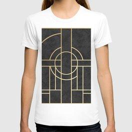 Art Deco Black Marble T-shirt