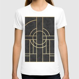 Art Deco Black Marble T-shirt