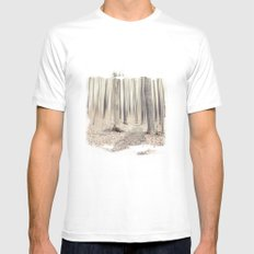 walking through the last days of autumn White MEDIUM Mens Fitted Tee