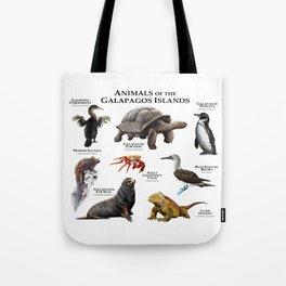Animals of the Galapagos Islands Tote Bag