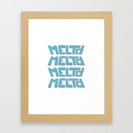 Melted, the solid typography. Framed Art Print