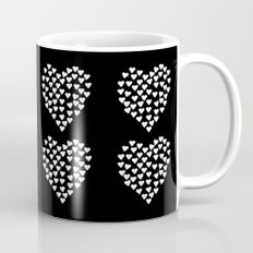 Hearts Heart x2 Black Mug
