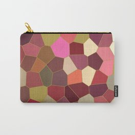 Red and Gold Festive Dazzle Stained Glass Abstract Carry-All Pouch