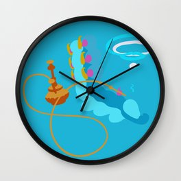 Blue Caterpillar (Light Blue) Wall Clock