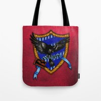 ravenclaw Tote Bags featuring Ravenclaw by JanaProject