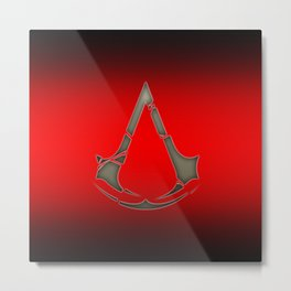 Assassins Creed Style Metal Print