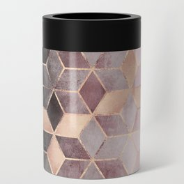 Pink And Grey Gradient Cubes Can Cooler