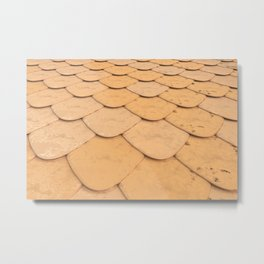 Pattern of orange rounded roof tiles Metal Print