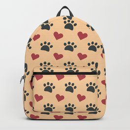 Dog paw heart Backpack