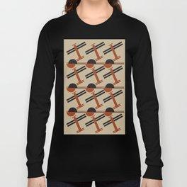 soviet pattern - constructivism Long Sleeve T-shirt