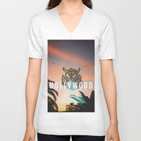 hollywood V-neck T-shirts featuring HOLLYWOOD by Warren Silveira + Stay Rustic