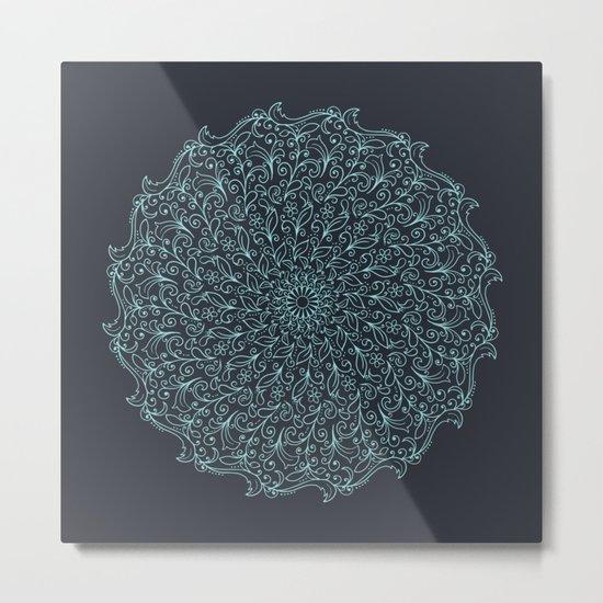 Floral Mandala Metal Print