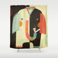 ELEPHANT FRONT Shower Curtain