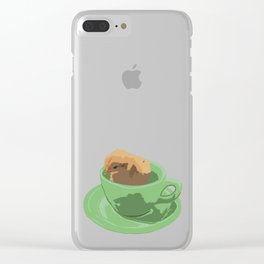 Baby Chick in Jadeite Cup Illustration Clear iPhone Case