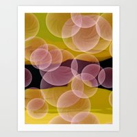 bubbles Art Prints featuring Bubbles by lillianhibiscus
