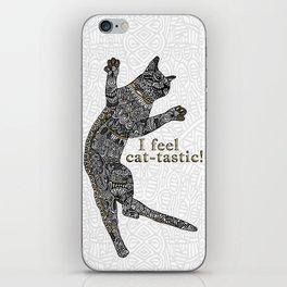 I feel cat-tastic! iPhone Skin