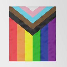 LGBTQ+ Pride Flag Inclusive (LGBTQ+ Pride, Gay Pride) Throw Blanket