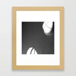 Two Lights Framed Art Print