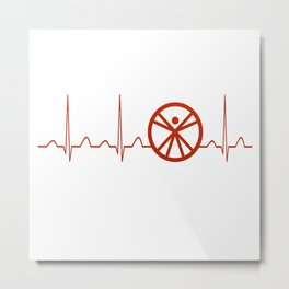 Anthropologist Heartbeat Metal Print