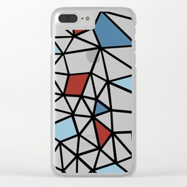 Segment Red and Blue Clear iPhone Case